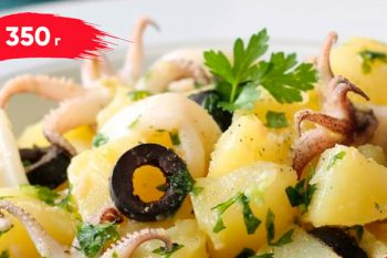 Салат картофельный с кальмаром