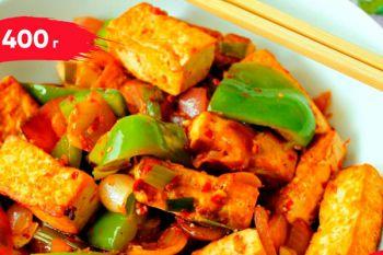 Тофу по-японски с овощами