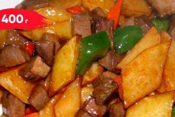 Жареная говядина с картофелем